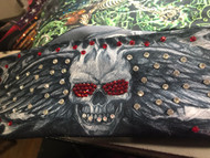 Bandana, Skull Angel Wings Flames Red Eyes FREE SHIPPING