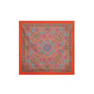"Scarf, 39x40"" Cotton Orange Elephants FREE SHIPPING"