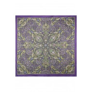 "Scarf, 39x40"" Cotton Purple FREE SHIPPING"