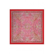 "Scarf, 39x40"" Cotton Red Paisley FREE SHIPPING"