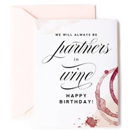 Card, Birthday Partners in Wine FREE SHIPPING