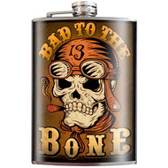 Flask, Skull Bad To The Bone