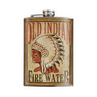 Flask, Indian Old Indian Fire Water