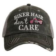 Cap, Baseball Motorcycle Hair Don't Care Pink