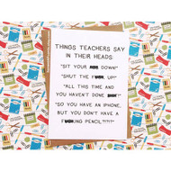 Card, Things Teachers Say FREE SHIPPING