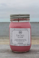 Candle, Pink Sands Soy 16oz, 80 Hour, Spicy Vanilla Floral Citris