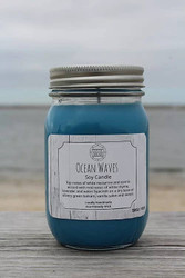 Candle, Ocean Waves 16oz Soy, 80 Hours