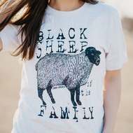 T-Shirt, Black Sheep Of The Family, Ash, Small to 3x