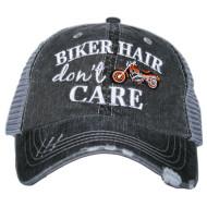 Cap, Baseball Biker Hair Orange