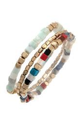 Bracelet, Cubic Bead Blue