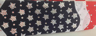 Bandana, over 270 Swarovski crystals.  We salute anyone who wears this outstanding American Flag, American made bandana!  Go Brazen Bombshell Finest!