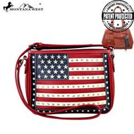 Purse, American Flag Red Conceal & Carry