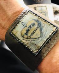 Bracelet, Leather Love Forever Pewter