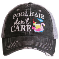 Cap, Baseball Pool Hair Don't Care, Flamingo