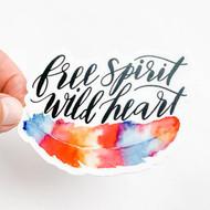 Sticker, Feather Free Spirit FREE SHIPPING