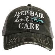 Cap, Baseball Jeep Hair Don't Care Teal