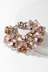 Bracelet, Beaded Pink