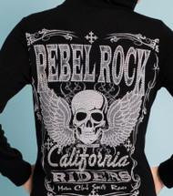 Jacket, Skull Bling Black, Made in USA