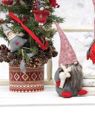 Gnome, Sweater Hat Carrying Reindeer