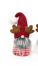 Gnome, Antlers Red Stripe Body 11""