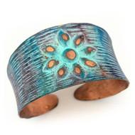 Bracelet, Copper Patina Flower