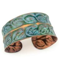 Bracelet, Copper 2Row Leaves