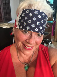Bandana, great for motorcycling or showing pride. Go Brazen makes the best American made bandanas with bling bling Swarovski Crystals.