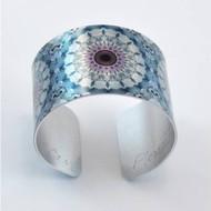 Bracelet, Cuff Aluminum Mandela Fluorite Museum Quality