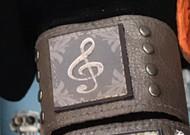 Bracelet, Leather Musical Note Snap Back