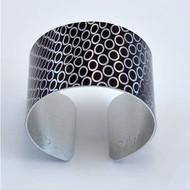 Bracelet, Cuff Aluminum Circles Museum Quality