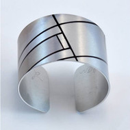 Bracelet, Cuff Aluminum Abstract Museum Quality