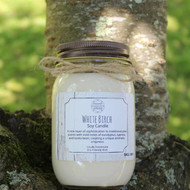 Candle, White Birch Soy 16 oz 80 Hour Burn