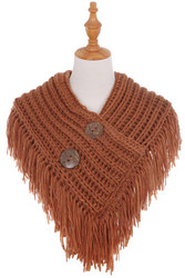 Scarf, Fisherman's Wife Button Rust