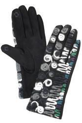 Gloves, Artsy Zig Zag Grey
