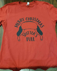 T-Shirt, Merry Christmas, Shitters Full