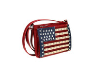 Purse, American Flag Crossbody Organizer  Red