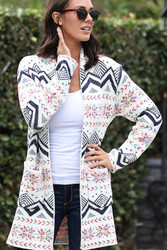 Cardigan, Aztec Pattern Pockets