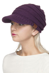 Hat, Brimmed Dark Purple