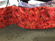 Bandana, Roses Red With Red Swarovski Centers FREE SHIPPING