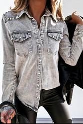 Shirt, ARRIVAL 2-15 Denim Rivet Grey