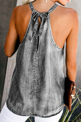 Top, ARRIVAL 2/15 Denim Sleeveless Grey