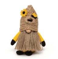 Gnome, Bee Skep Hat Jute Yellow Body