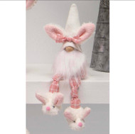 Gnome, Bunny Plaid Legs Bunny Slippers