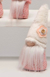 Gnome, Furry Flower Hat White