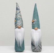"""Gnome, Chateaux Boys Teal Blue Paisley  Hat 9.5"""""""