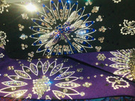 Bandana, Dragonfly Blue Purple on Blk Paisley FREE SHIPPING