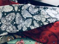 Bandana, Handmade Original Butterfly Grey