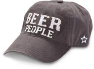 Cap, Baseball Beer People Grey Adjustable