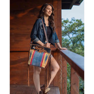 Purse, Aztec Blue Hand Tooled Leather