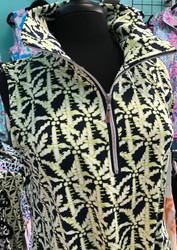 Dress, Sleeveless 1/4 Zip Lime Navy Palm FREE SHIPPING